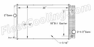 Picture of Ford / Sterling Radiator - Plastic Tank TR7210P