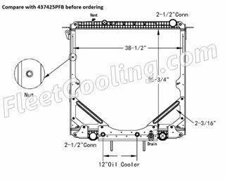 Picture of Freightliner Radiator - Plastic Tank TR7425PF