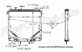 Picture of Freightliner Radiator - Plastic Tank TR7444PF