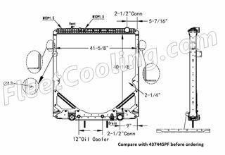 Picture of Freightliner Radiator - Plastic Tank TR7445PFB