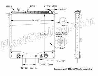 Picture of Freightliner Radiator - Plastic Tank TR7458PFB