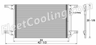 Picture of Freightliner, Sterling Condenser AC0363