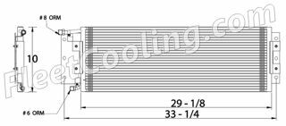 Picture of Freightliner Condenser AC0603