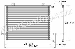 Picture of Freightliner Condenser AC0605