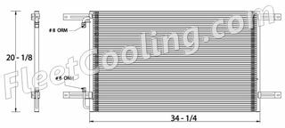 Picture of Freightliner Condenser AC0608