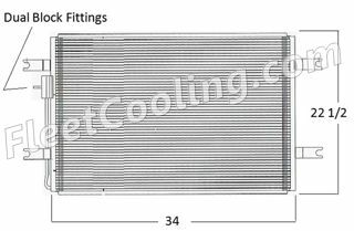 Picture of Freightliner Condenser AC0609