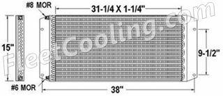 Picture of Peterbilt Condenser AC0739