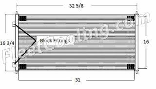 Picture of International Navistar Condenser AC0803