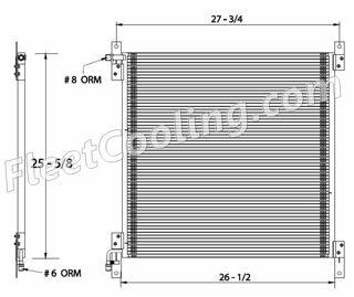 Picture of International Navistar Condenser AC0804