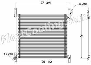 Picture of International Navistar Condenser AC0806
