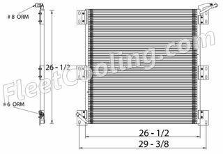 Picture of IC Corporation, International Navistar Condenser AC0815