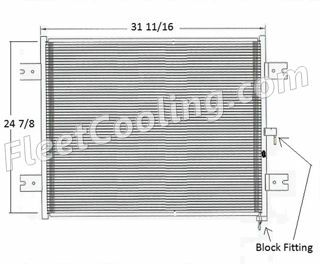 Picture of Peterbilt Condenser AC1401