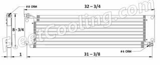 Picture of Peterbilt Condenser AC1408