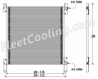 Picture of Peterbilt Condenser AC1414