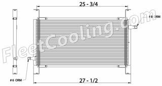 Picture of Chevrolet / GMC, Volvo, White Condenser AC1610