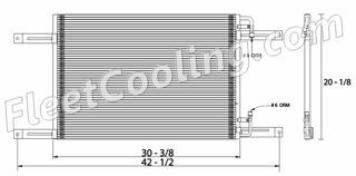 Picture of Freightliner Condenser AC7002