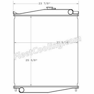 Picture of UD Nissan Radiator - Plastic Tank TR7521P